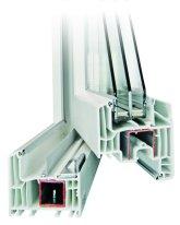 Fensterprofil Kunststoff NovoRoyal mit 6-Kammern