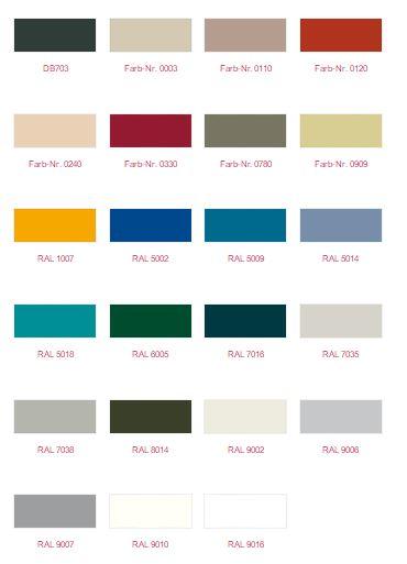 Farben der Raffstores